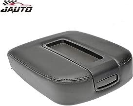 JAUTO Genuine Leather Center Console Lid Kit for 2007-2014 Chevy Chevrolet Silverado,Tahoe,Suburban,Avalanche,GMC Sierra,Yukon,Yukon XL - Replaces 15217111 15941534 - Black