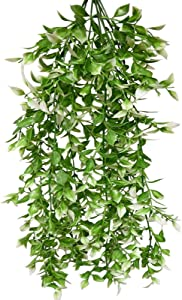 UK-Gardens Artificial Plants - 65cm Large Green Variegated Ruscus Plant Foliage - Hanging Trailing