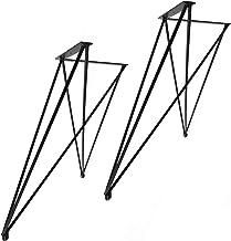 2x Natural Goods Berlin X, set van 2 hairpin legs tafelpoten, 12 mm staal, eettafel, bureau, bank, salontafel, zwart, wit...