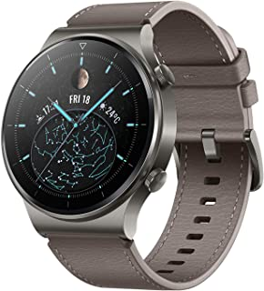 ساعة هواوي GT 2 برو الذكية، بشاشة لمس AMOLED HD مقاس 1.39 انش، وبطارية تعمل لمدة اسبوعين، مع تقنيات GPS وGLONASS وSpO2 واك...