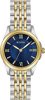Bulova Women's Quartz Stainless Steel Dress Watch, Color:Two Tone (Model: 98M124)