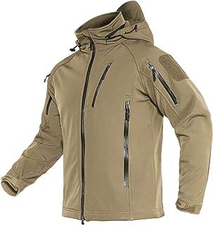 MAGCOMSEN Men's Winter Coats 8 Pockets Hooded Water &...