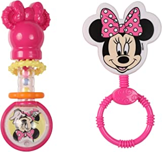Disney Minnie Mouse Combo Pack Character & Barbell Rattle, Minnie