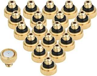 KUWAN 20pcs Brass Misting Nozzles for Cooling System 0.012