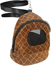 Exotic Nutrition Kucci Carry Pouch - Fleece Travel Bonding Carrier Bag - for Sugar Gliders, Squirrels, Marmosets, Hamsters, Rodents, Rats, Reptiles & Other Small Pets