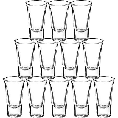 Gmark 2-Ounce 2-Oz Heavy Base Shot Glass Set, Whiskey Shot Glass espresso liquor 12-Pack GM2026
