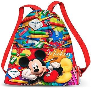 Karactermania Mickey Mouse Crayons Bolsa de Cuerdas para el Gimnasio, 35 cm, Rojo