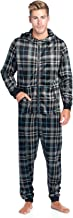 Ashford & Brooks Men's Mink Fleece Hooded One-Piece Union Suit Pajamas
