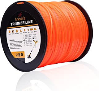 Anleolife 5-Pound Commercial Square .105-Inch-by-1038-ft String Trimmer Line in Spool,with Bonus Line Cutter, Orange
