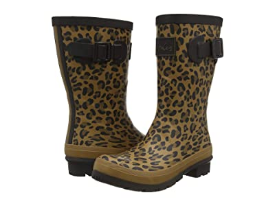 Joules Molly Welly (Tan Leopard) Women