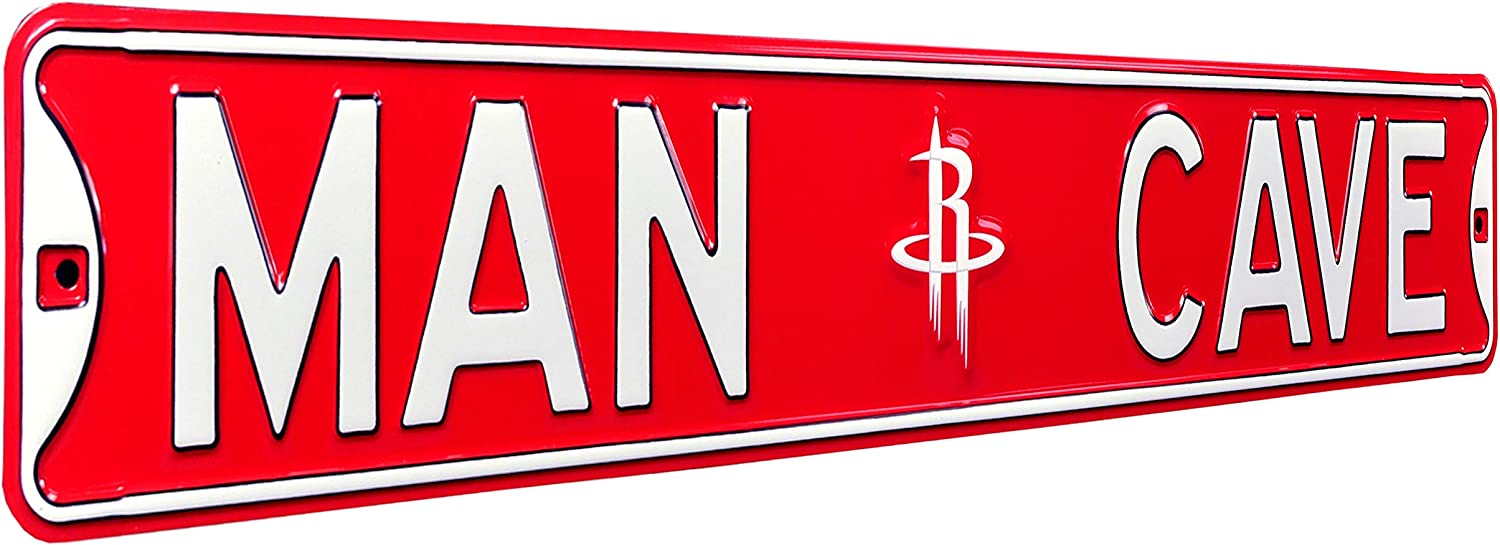 Houston Rockets Man Cave Street Sign