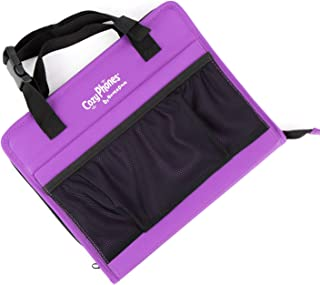 CozyCase - The Ultimate 3-in-1 Kids Convertible Travel Tablet Bag - Perfect Accessory for Car & Home - Purple