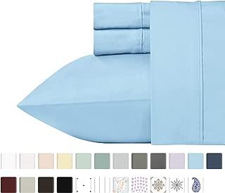 400 Thread Count Sheet Set, 100% Long-Staple Cotton (California King, Blue)