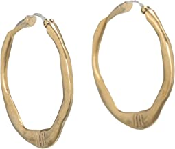 Small Century Metal Hoop Earrings