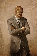 Cartoon world P0165 John F Kennedy White House Portrait JFK Thinking Offical Cool Poster 24x32 inch