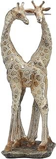 Ebros Large Mosaic Twin Giraffe Couple Statue 12.5