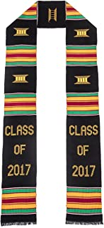 Class of 2017 Kente Cloth Graduation Stole Black