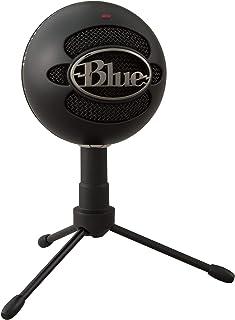 Blue Microphones Snowball ICE - Micrófono para grabación y transmisión en PC y Mac, cápsula de condensador cardioide, soporte ajustable, Plug and Play, color Negro