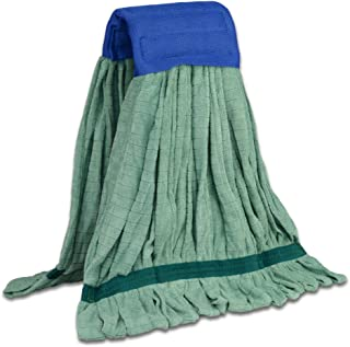 Large Microfiber Tube Mop   Commercial Wet Mop Head Replacement   Dries 3x Faster Than Cotton String Mops   Machine Washable (Green)