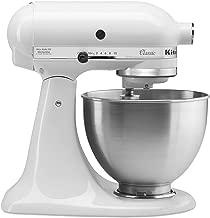 KitchenAid Classic Series 4.5 Quart Tilt-Head Stand Mixer, White (K45SSWH)