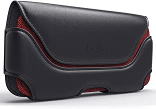 Galaxy S7 Edge Holster, Rugged Leather Belt Case with Clip & Loops for Galaxy S7 Edge Cell Phone Pouch Flip Cover Case (Fits Samsung S7 Edge with Otterbox/Lifeproof or Other Armor Case On)