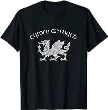 Wales, Red Welsh Dragon, Cymru Am Byth tshirt - Welsh Pride
