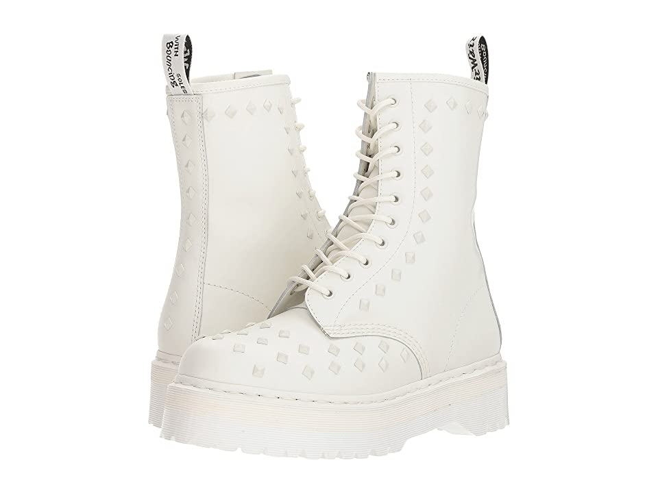 Dr. Martens 1490 Stud (White Smooth) Boots