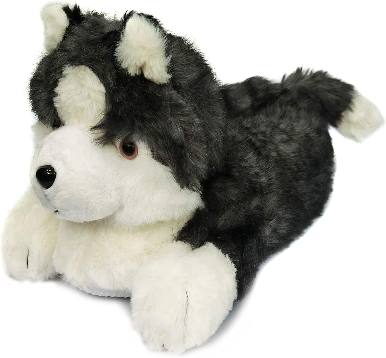 Onmygogo Fuzzy Husky Animal Winter Dog Slippers for Men and Women