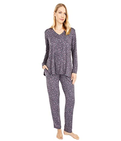 N by Natori Wild Instinct PJ Set (Charcoal/Pink) Women