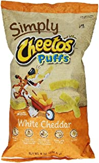 Frito Lay Natural Cheetos White Cheddar Cheese Puffs, 8 Ounce (Pack of 3)
