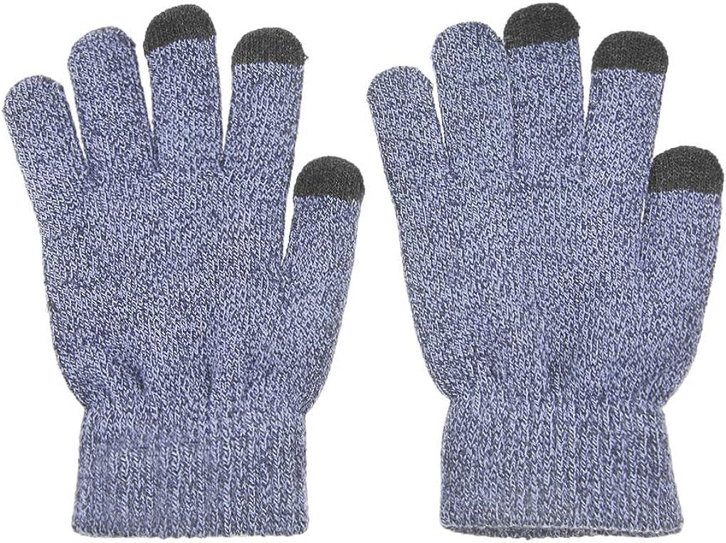 Women Men Winter Touchscreen Gloves Thick Warm Fleece Lined Knit Gloves Mittens