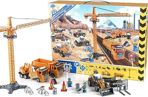 AOTE-D Simulation Tr eit Spielzeugauto, Kranturmleiter Auto Modell Feuer LKW Spielzeug Kinder Spielzeugauto DIY Kombination Spielzeug Junge mädchen Geschenk