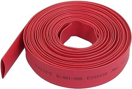 6MM ACAMPTAR Tube thermoretractable noir Enveloppe de tube de gaine thermoretractable pour cable//fil electrique de voiture 1M