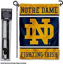 Notre Dame Fighting Irish Garden Flag with Stand Holder