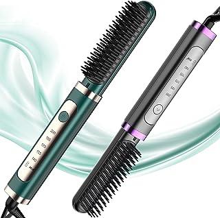 DESIPESI Ionic Hair Straightener Brush - Dry and Wet Straightening Brush with 20 Seconds Quick Heating &5 Heating Levels K...