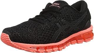 ASICS Australia Gel-Quantum 360 Knit 2 Women's Running Shoe, Black/Sun Coral