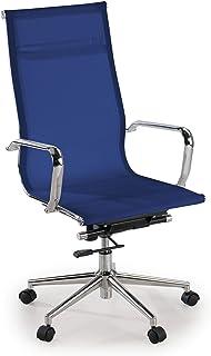 ofiprix | Silla Slim | Silla de Oficina Giratoria | Silla Escritorio de Diseño | Respaldo de Red Alto | Uso Profesional | Malla Transpirable | Acabado Premium | Color Azul