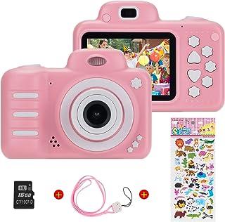Vannico Camara Fotos, Camara para Niños Cámaras de Video para niños Cámara Digital 8MP 1080P HD Juguetes para niña de 3-10 años con Tarjeta de 16GB TF (Rosa)