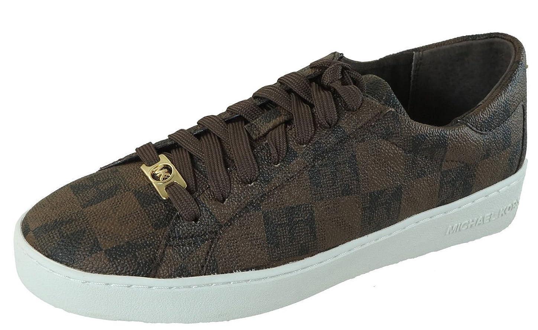 蛇行ファン部門[MICHAEL KORS] Keaton Sneakerブラック/ブラウンサイズ9.5?M