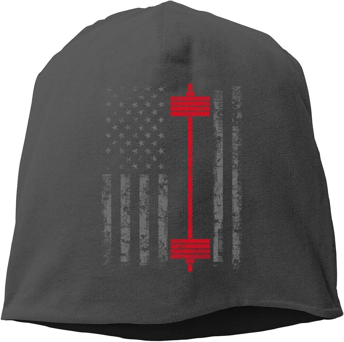 swqfzki Austin Mall Men's Women Winter Beanie Weight Flag Hats American Cheap Lift