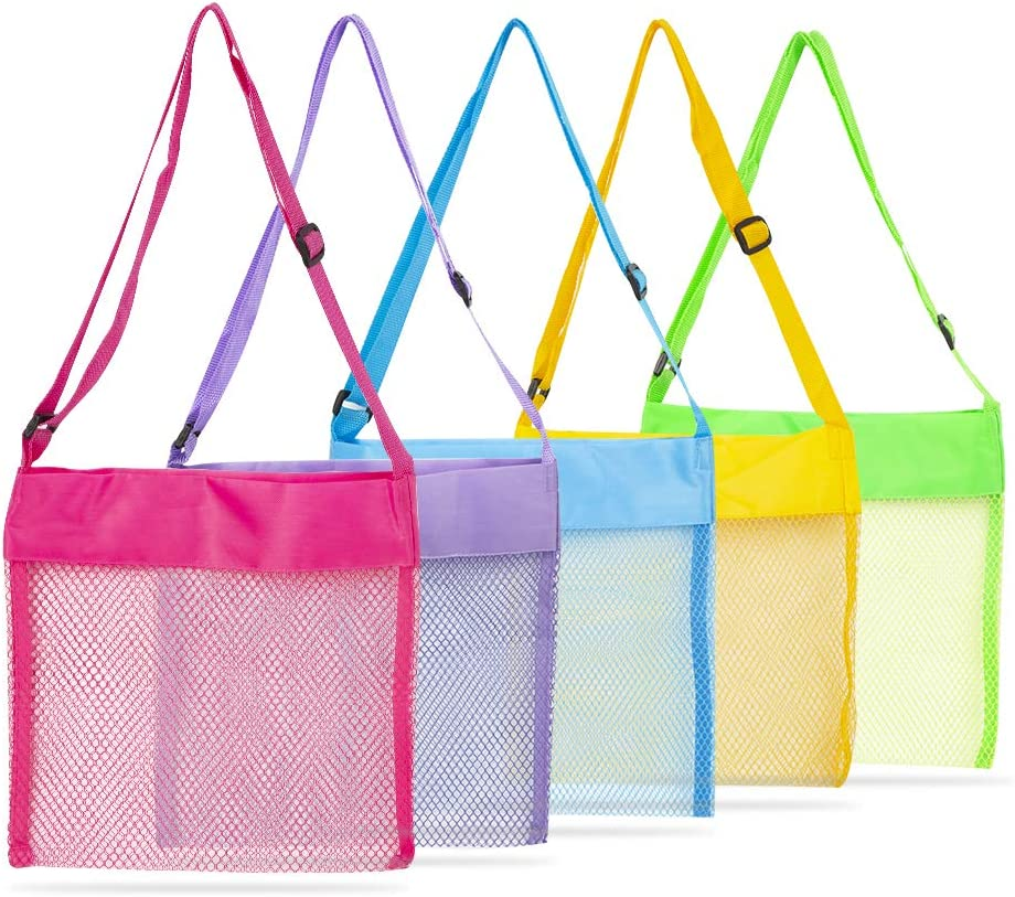 Excellence Shell Bags Bag Beach Toys for 5 Sale Kids Bea Colorful Pcs Mesh