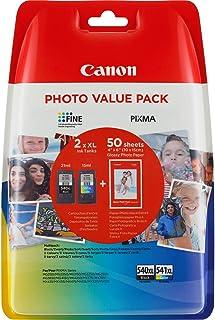 Canon PG-540XL+CL-541XL Cartuchos de tinta BK+Tricolor XL para Impresora de Inyeccion Pixma TS5150,5051-MX375,395,435,455,...
