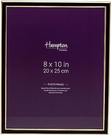 Profil de Largeur 23mm Couleur: Noir Brillant avec Verre Acrylique antireflet Dimensions ext/érieures: 13,4 cm x 13,4 cm Frame World FW23 Cadre Photo en Bois v/éritable pour 10 cm x 10 cm Photos