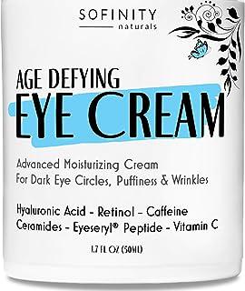 Eye Cream Anti Aging Bags & Dark Circle - Under Eye Cream - Dark Circles under Eye Treatment for Women / Men - Eye Cream for Dark Circles and Puffiness - With Retinol, Caffeine, Vitamin C, by Sofinity