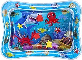 Toyvian Bebé Alfombrilla de Agua Inflable Juguete Infantil Alfombra de Juego Alfombra de Arrastre para Niño Niña (Serie Mundial Submarina)
