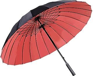 A Prueba De Viento Paraguas De Golf Doble Dosel Automático Abierto Viaje Extra Grande Negocio Paraguas KS12,Pink