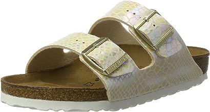 Birkenstock Arizona Shiny Snake Cream Birko-Flor Adult Flat Sandals