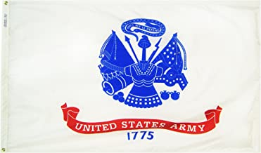 Annin Flagmakers Model 439035 U.S. Army Military Flag 3x5 ft. Nylon SolarGuard Nyl-Glo 100% Made in USA to Official Specifications. Officially Licensed Manufacturer.