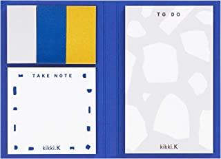 Kikki.k Adhesive Notes Set Dream Plan DO Range Cobalt Blue