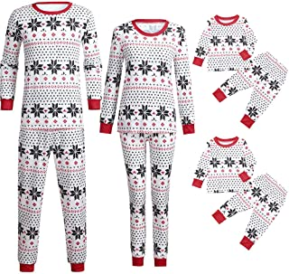 6742d6ef01 Lurryly❤Family Matching Pjs for Christmas Kids Women T Shirt Pants Pajamas  Sleepwear Outfits